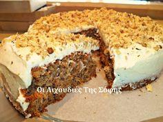 Υπέροχο πεντανόστιμο και μαλακό κέικ καρότου από τη Σόφη Τσιώπου!!! Greek Sweets, Greek Desserts, Sweets Recipes, Cake Recipes, Cooking Recipes, Coconut Pineapple Cake, Cheesecake Cake, My Best Recipe, Carrot Cake