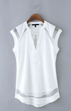 Transparent Patchwork Tank Top Blouse http://trendyroad.com/collections/tops/products/transparent-patchwork-tank-top-blouse #tanktop