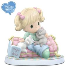 Shop a great selection of exclusive Precious Moments collectibles at Hamilton Collection. Select from many of the adorable Precious Moments figurines that we offer. Precious Moments Quotes, Precious Moments Figurines, Cat Lover Gifts, Cat Lovers, Biscuit, Collectible Figurines, Glass Figurines, My Precious, Baby Gifts