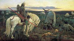 knights horses viktor vasnetsov