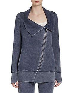 Asymmetrical Zip-Front Sweatshirt  saksoff5th.com  extra 30% off rn