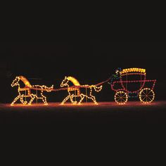 Victorian Horses & Carriage C7 LED Light Display 20 ft W $1,999.00. Professionally designed and built by hand in the U.S.A., using only the highest quality materials.