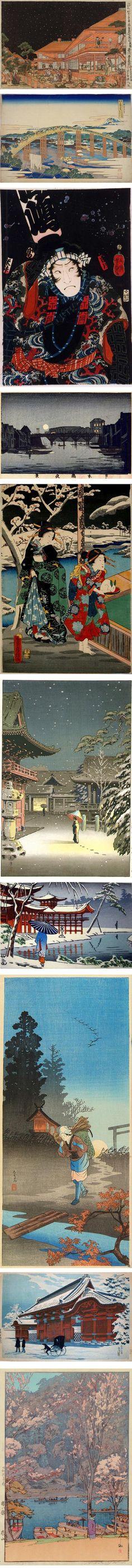 Ukiyo-e Search: Utagawa Toyoharu, Hokusai  Katsushika, Inoue Yasuji, Utagawa Fusatane, Tsuchiya Koitsu, Fujishima Takeji, Watanabe Shotei, Shotei Takahashi, Yoshida Hiroshi