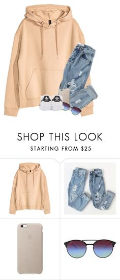 """""""I want you to hold me down forever"""" by graciegirl2015 ❤ liked on Polyvore featuring H&M, Ray-Ban and adidas Originals"""