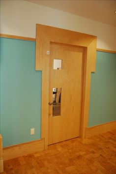 New York City school design features Lock-it door lever handles on classroom doors.