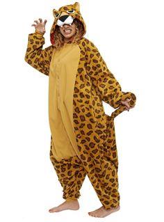 Adult Kigurumi Leopard Costume Side