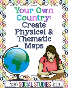 Increase student engagement! Fifth, sixth, seventh & eighth graders can create a physical & thematic map of their country & express themselves in a creative way to promote a deeper level of understanding of map skills. Students use the rubric to design their map & assess their progress & completed work. Perfect for enrichment, collaborative or individual work, assessment, critical thinking skills, or homework. {5th, 6th, 7th, 8th graders, geography, social studies, mapping, lesson, activity}