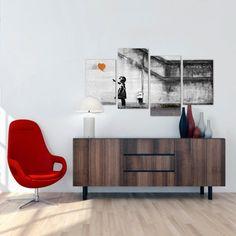 sessel rot kommode weiße wände innendesign ideen