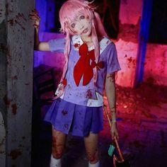 "Anime : Mirai Nikki/Future Diary | Character : Yuno Gasai (The Second) | Cosplayer : seeU | #cosplay #costume"""