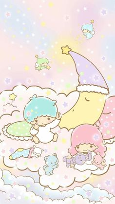Kawaii Wallpaper Pastel Little Twin Stars New Ideas – Phone Backgrounds Sanrio Wallpaper, My Melody Wallpaper, Star Wallpaper, Hello Kitty Wallpaper, Kawaii Wallpaper, Cute Wallpaper Backgrounds, Trendy Wallpaper, Cute Wallpapers, Rilakkuma Wallpaper