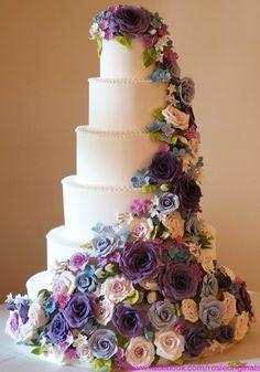 Fabulous flower wedding cake by Rosie Cake-Diva