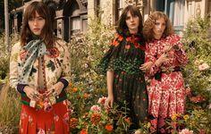 Dakota Johnson, Petra Collins and Hari Nef radiate in Gucci Bloom's campaign. - Gucci Stories