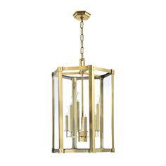 Roxbury Aged Brass Six Light Pendant Hudson Valley Lantern Pendant Lighting Ceiling Lighti