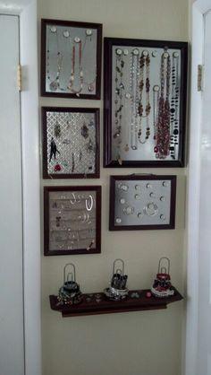 Did it!! Organized jewelry