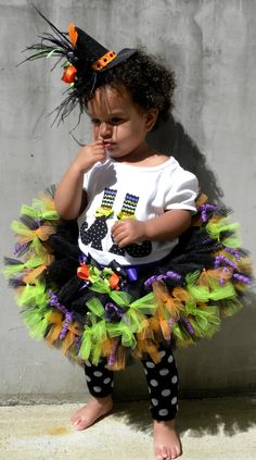 READY TO SHIP:  Petti Tutu Skirt - Witch Halloween Costume - Hocus Pocus - 3-4 Toddler Girl - Cutie Patootie Designz on Etsy, $60.00