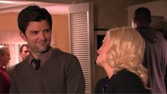 """The way that Ben looks at Leslie. 25 Heartwarming Ben And Leslie Moments From """"Parks & Recreation"""" Leslie And Ben, Nick And Jess, Cartoon Network Adventure Time, Adventure Time Anime, Parks And Recreation Ben, Lexie And Mark, Parks And Recs, What Is Love, My Love"""