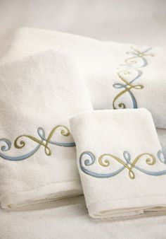 how to machine embroider on terry towels