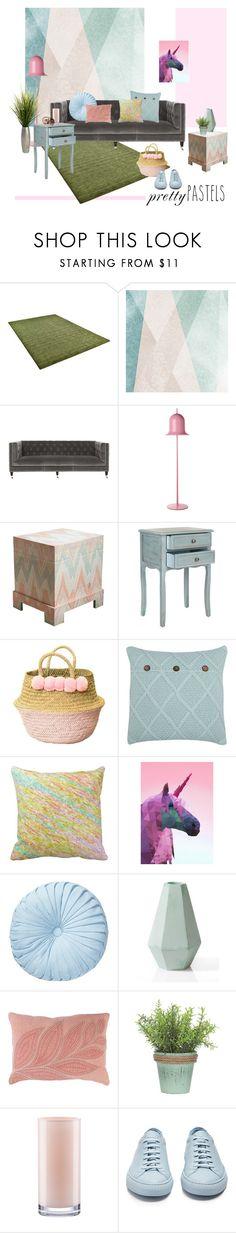 """Home Style : Pastel"" by brigitta-ruth on Polyvore featuring interior, interiors, interior design, home, home decor, interior decorating, Sandberg Furniture, Safavieh, Moooi and M&Co"