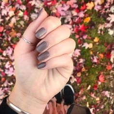 """Olivia Anderson on Instagram: """"i wore this cozy gray polish from the @essie fall collection all last week and let me tell you I am here for it! i did two thin coats of…"""" Gray Polish, Fall Collections, Essie, You And I, My Nails, Told You So, Cozy, Let It Be"""