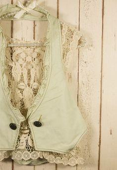 Lace/Jean Vest