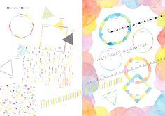 水彩・色鉛筆・クレヨン ふんわりやわらか手描き素材集 (デジタル素材BOOK)   fuu (etu-pirica design), taneko, waka   本-通販   Amazon.co.jp