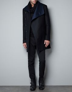 Want it. Badly. - Coat with faux leather collar - Man - ZARA Greece