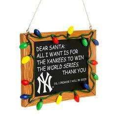 d77efe54628 New York Yankees Resin Chalkboard Sign Ornament - MLB.com Shop Products