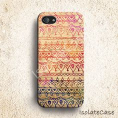 iPhone 5 case - tribal aztec wood iphone 5 case ,iphone 4s case,iphone 4 case,iphone 5 cover.hard plastic case $24
