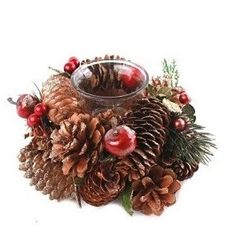 Gold Pine Cone Single Candle Holder Price: 9.95 GBP