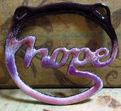 Enameled Copper Hope Pendant by EBBeadandMetalWorks on Etsy, $20.00
