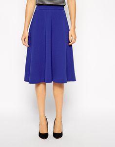 Woven Midi Skirt In Crepe