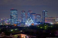 大阪 大阪城 光 #Osaka #Japan #light osaka Japan light
