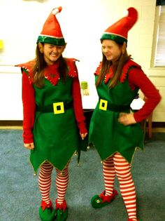 elf costumes, see if some teen girls will do this