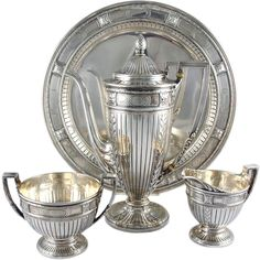 Antique Tiffany Sterling Silver Set 1909 Beaux Arts by patsy