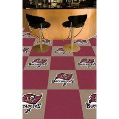 NFL - Tampa Bay Buccaneers Carpet Tiles  http://allstarsportsfan.com/product/nfl-tampa-bay-buccaneers-carpet-tiles/  Covers 45 Square Feet Easy Installation Premium Chromojet Printing