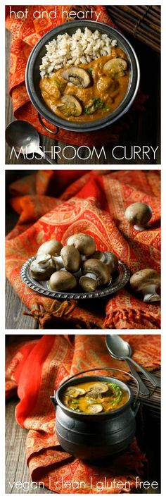 Hot and Hearty Mushroom Curry  - one of my most popular recipes! Light, healthy and delicious.
