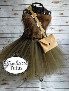 Chewbacca Inspired costume Wookie tutu dress by GlamliciousTutus