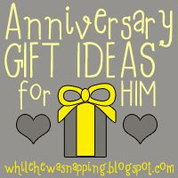 While He Was Napping: Anniversary Gift Ideas