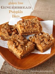 Gluten Free Gingerbread Pumpkin Bars | The Baking Beauties