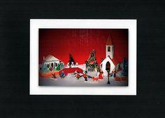 Xmas Village 2010 Christmas card by MemoriesOnPaperByCJ on Etsy