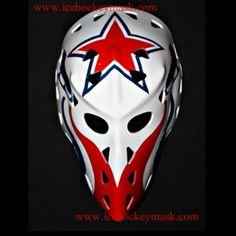 VINTAGE FIBERGLASS STREET ROLLER NHL ICE HOCKEY MASK GOALIE HELMET – Gary Inness HO26 we