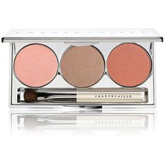 Chantecaille Women's Seashell Eye & Cheek Trio ($68) ❤ liked on Polyvore featuring beauty products, makeup, cheek makeup, blush, eyes, no color and chantecaille