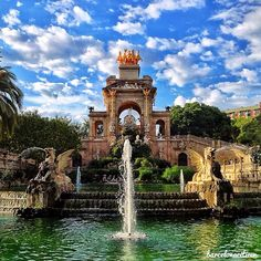 Parc de la Ciutadella in Barcelona, Cataluña Idylle für ausgedehnte Spaziergänge