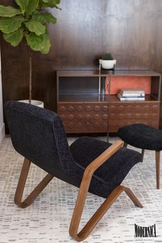 Case Study® Storage Unit and Grasshopper Chair with Ottoman  Made in California
