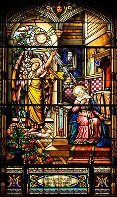 Stained Glass Window - Notre Dame Cathedral Basilica of Ottawa - Mo Tabesh.