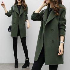 Blazer Jackets For Women, Coats For Women, Clothes For Women, Women's Jackets, Long Jackets For Women, Long Winter Coats, Long Wool Coat, Long Coats, Winter Parka