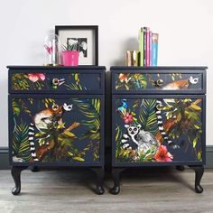 Upcycled Furniture Diy Dresser Home Decor Ideas Decoupage Furniture, Hand Painted Furniture, Upcycled Furniture, Furniture Projects, Furniture Makeover, Vintage Furniture, Bedroom Furniture, Diy Furniture, Furniture Design