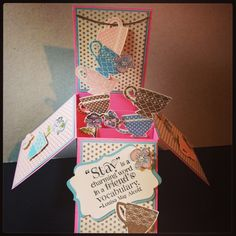 Card in a box inspired by Stampin' T - Tanya Bell :)