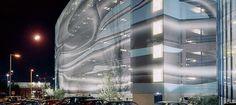 Airport Car Park - Vienna, Austria | Textile printed facade Stamsil FT by Serge Ferrari | Architect: 25PEACES-Typico