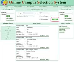 Company Search  - Campus Selection System ASP.Net Project